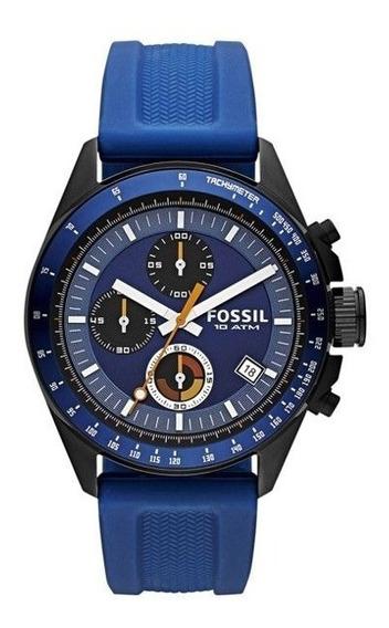 Relógio Masculino Fossil Decker Ch2879 Cor Azul - Original