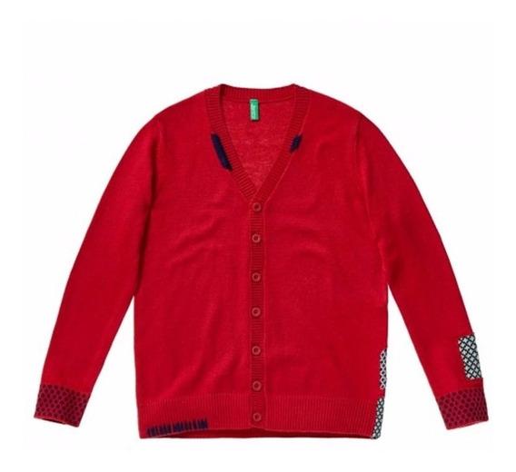Suéter Cardigan Rojo Infantil United Colors Of Benetton 2016