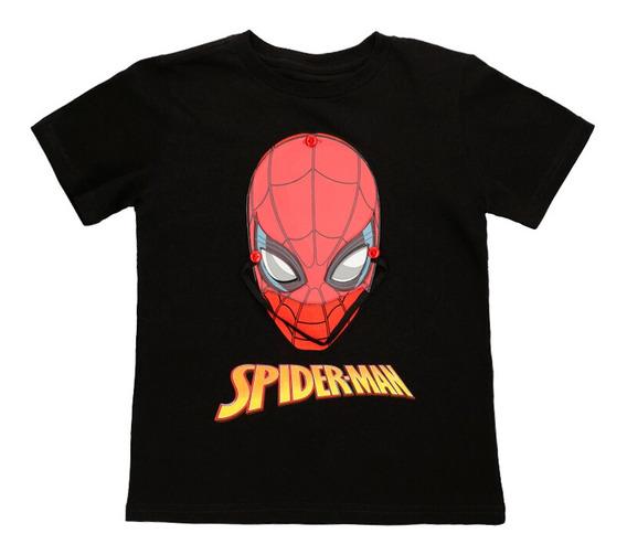 Playera Máscara Removible De Niños C&a Licencia Spiderman
