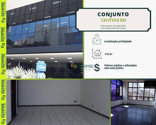 Imagem 1 de 24 de Conjunto Para Alugar, 110 M² E 03 Vagas - Centro - Belo Horizonte/mg - Cj0003