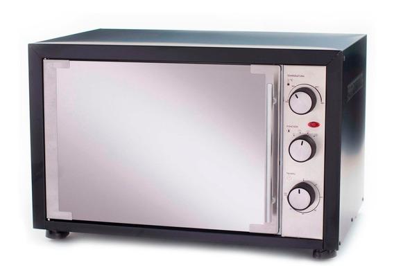 Horno Eléctrico Lumer 48lts 2000 Watts Acero Inox Negro 220v