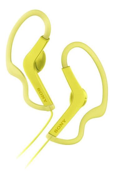 Fone De Ouvido Intra Auricular Sony As210 Amarelo