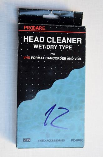 Vhs Limpia Cabezales, Head Cleaner, Tipo Húmedo/seco