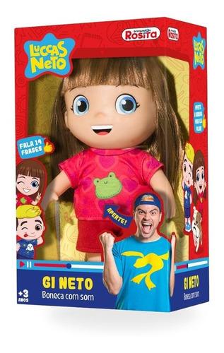 Boneca Gi Neto Fala 14 Frases Original Luccas Neto  27cm