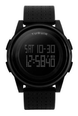 Relógio Unissex Tuguir Digital 1206 Preto Na Caixa Com Nf