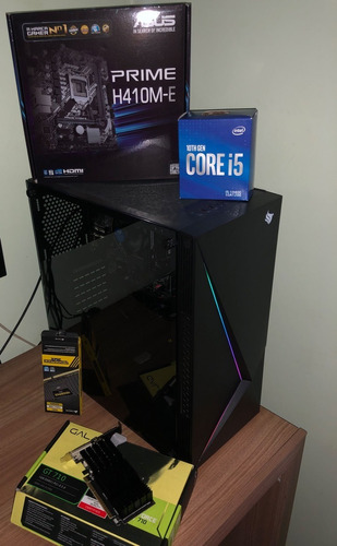 Pc Gamer I5 10400 Asus H410m-e 8gb 2666mhz + Teclado/mouse