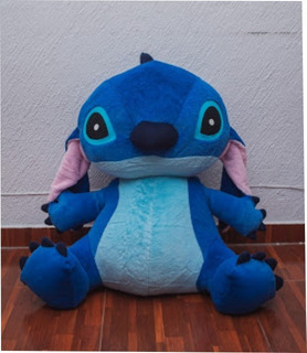 Stitch De Peluche Gigante Jumbo 80 Cm Sentado + Postal