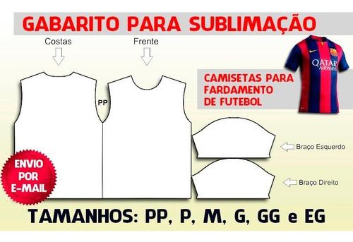 Moldes De Camisetas Masculinas Para Futebol ( Fardamento)