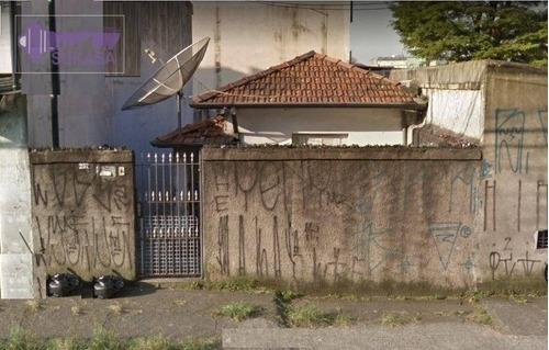 Terreno À Venda, 195 M² Por R$ 450.000,00 - Vila Alzira - Santo André/sp - Te0060