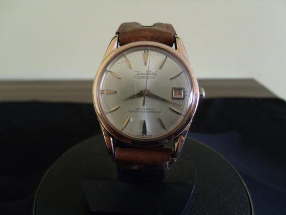 Relógio De Pulso Masculino Plaquê De Ouro Junewatch Automati