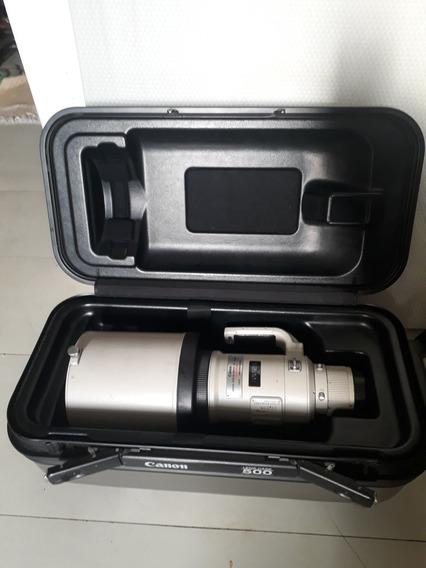 Canon 500mm F/4 L Ef Is +case+tripé Carbon C 2 Cbç + Mochila