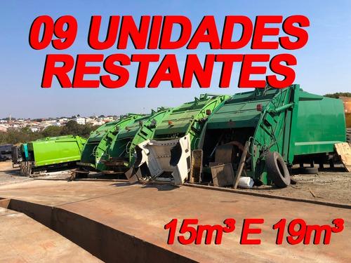 Imagem 1 de 15 de Lote De 09 Compactadores De Lixo Usimeca 15m³ E 19m³