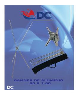 Banner X Porta Lona Display Aluminio 60x160 Cm Paq 20