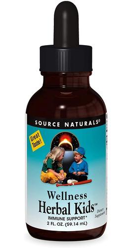 Source Naturals Wellness Herbal Kids, Para El Apoyo Del Sist