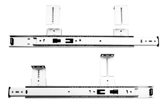 Corredera Teclado Alt/ajustable 350mm Tope Final (1jg)30kg