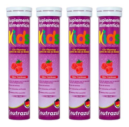 Imagen 1 de 7 de Vitamina C Para Niños 4 Tubos De 20 Tabletas Nutrazul