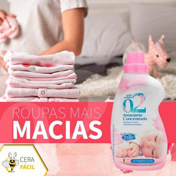 Amaciante De Roupas Delicado P/ Bebe 500ml Zero A Dois