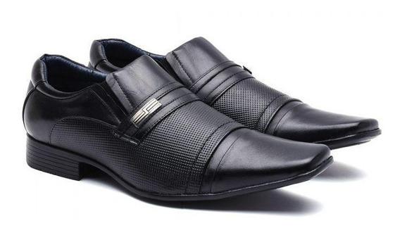 Sapato Social Masculino Manutt Couro De Carneiro 0505 Laser