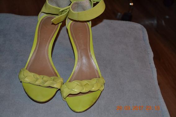 Sandália, Cor Amarelo, Nº35, Marca Dumond