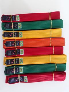 Kit 5 Faixas De Karate Graduacao Shigo Original