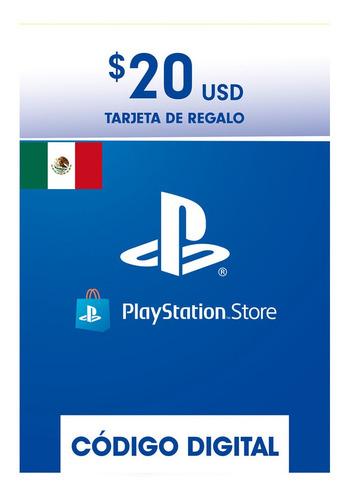 Imagen 1 de 1 de Tarjeta Playstation 20usd Psn Network Mexico