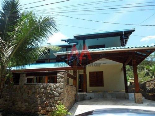 Ref: 12.635 Excelente Casa Localizada No Bairro Park Imperial, Caraguatatuba, Com 6 Dorms, Sendo 3 Suítes, Piscina, Lavabo, Area  Churrasco. - 12635