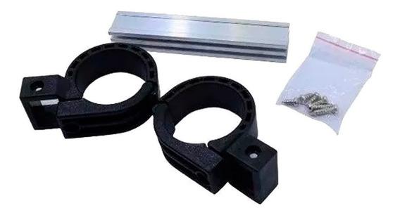 Kit Lnb Suporte Carona Universal C/ Haste De Alumínio 11cm Instalação Antena Canais Fechados Pronta Entrega