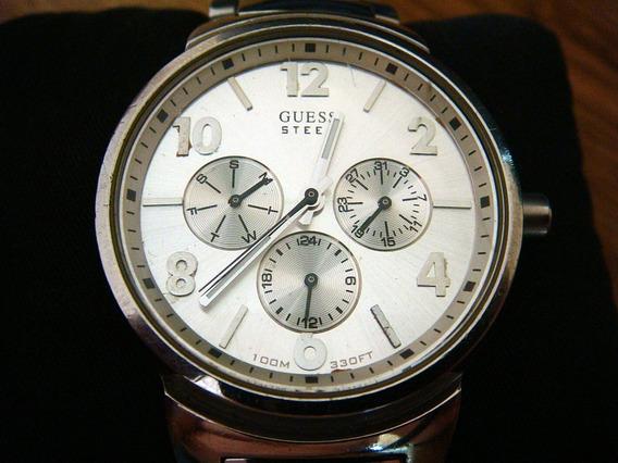 Atractivo Reloj Guess Steel G95243g. 100% Original
