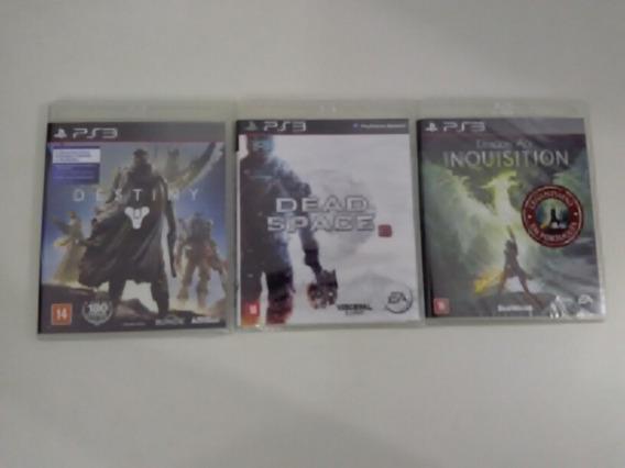 Jogos Ps3 Destiny + Dead Space 3 + Dragon Age Inquisition