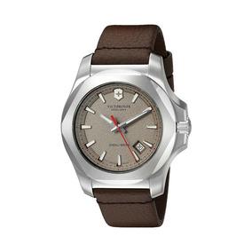 Relógio Victorinox 241738 I.n.o.x Couro Marrom Original