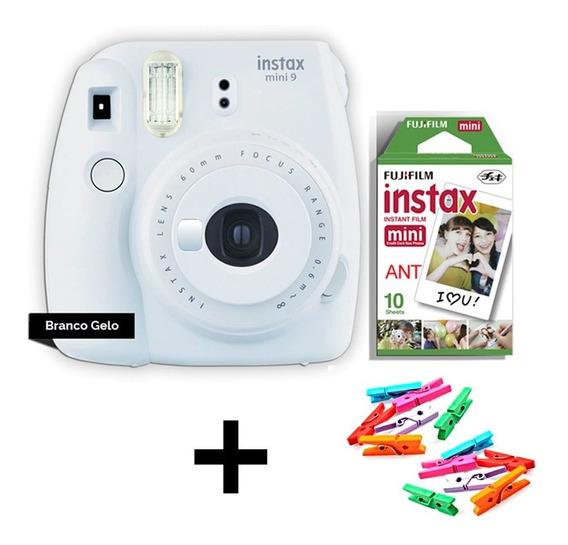 Câmera Instax Fuji Mini 9 + Filme 10 Poses Novas Cores