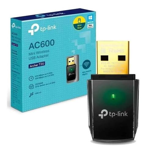 Adaptador Wifi Usb Tp-link Archer T2u Ac600 Dualband Envio