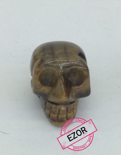 Cráneo Piedra Ojo De Hecho A Mano Trae Orificio Para Colgar