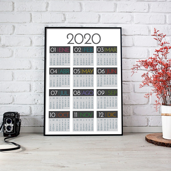 Calendario 2020 Imprimible De Pared Pdf