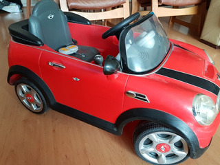 Auto Eléctrico Mini Cooper 6v Rojo