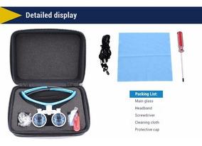 Lupa Fotoforo Oculos Cirurgico Dentista 3.5x420mm Azul