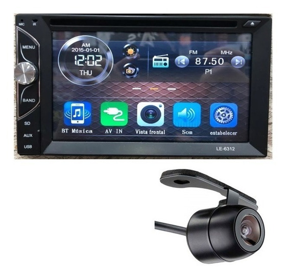 Central Multimidia 2 Din Universal Dvd Bluetooth Tv Dig.