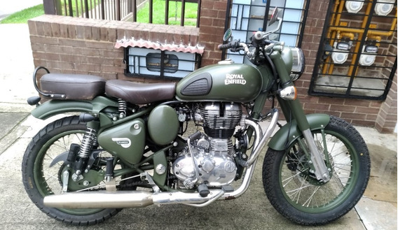 Royal Enfield Classic 500 - 2017 Battle Green/personalizada