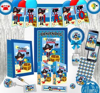 Combo Cotillón Mega 30 Bolsitas Banderín 150 Stickers Piñata