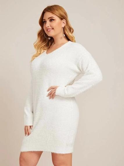 Vestido Suéter Blanco