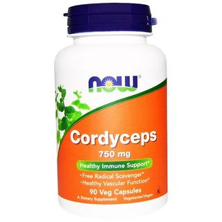 Cordyceps Sinensis 750mg Now Foods - 90 Cápsulas - Eua
