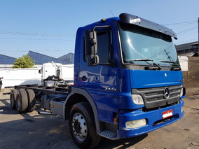 Mb 2425 2011 Atego Truck 6x2 Chassi Carroceria Bau Saider