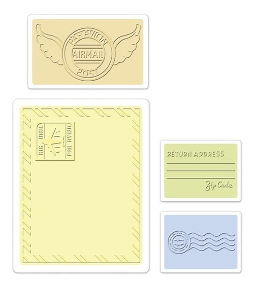 Carpeta De Repujado -embossing Folder- Mail Set