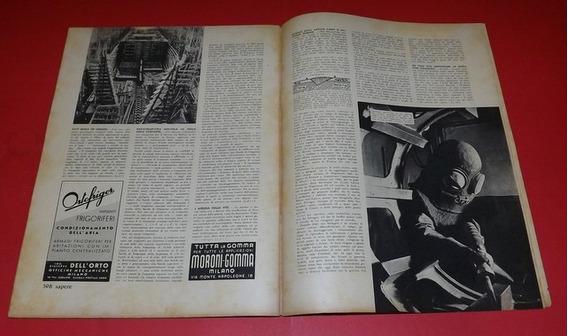 Revista Italiana Antiga Sapere De 1938 - Rara