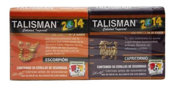 Caja Cerillo Talisman De 50 Piezas Con 20 Paquetes