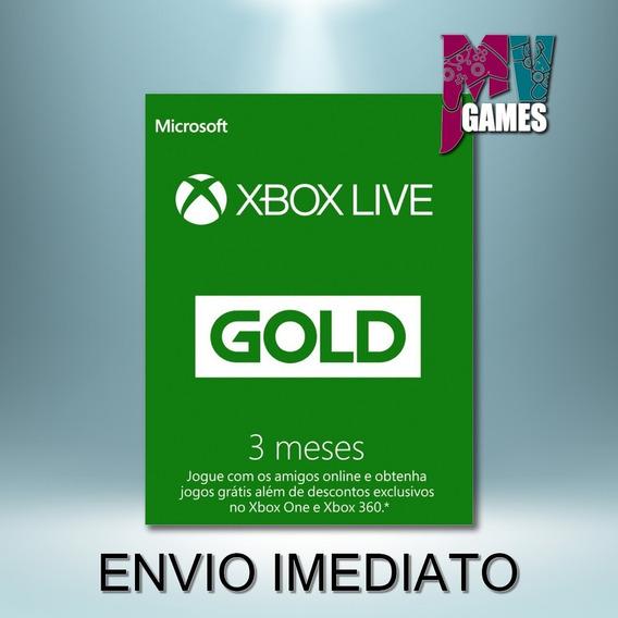 Xbox Live Gold 3 Meses Codigo 25 Digitos Br