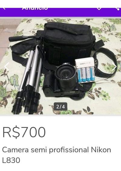 Câmera Nikon L830 Com Tripé É Bolda