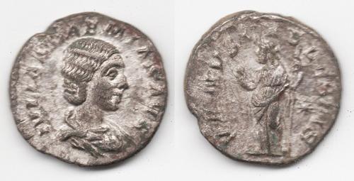 Imagen 1 de 1 de Moneda Romana Denario, Emp. Julia Soaemias, 218-222 Dc. L175