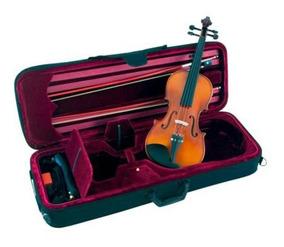 Violino 4/4 Ébano Séries Vnm49 Espaleira E 2 Arcos Michael.
