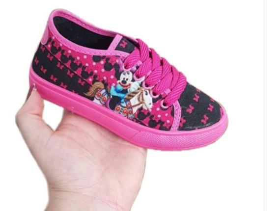 Tênis Minnie Infantil Feminino Promoção Sem Led E Ladybug